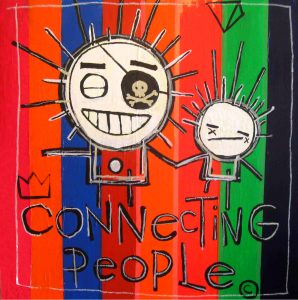 Connecting people - 150 x 150 cm