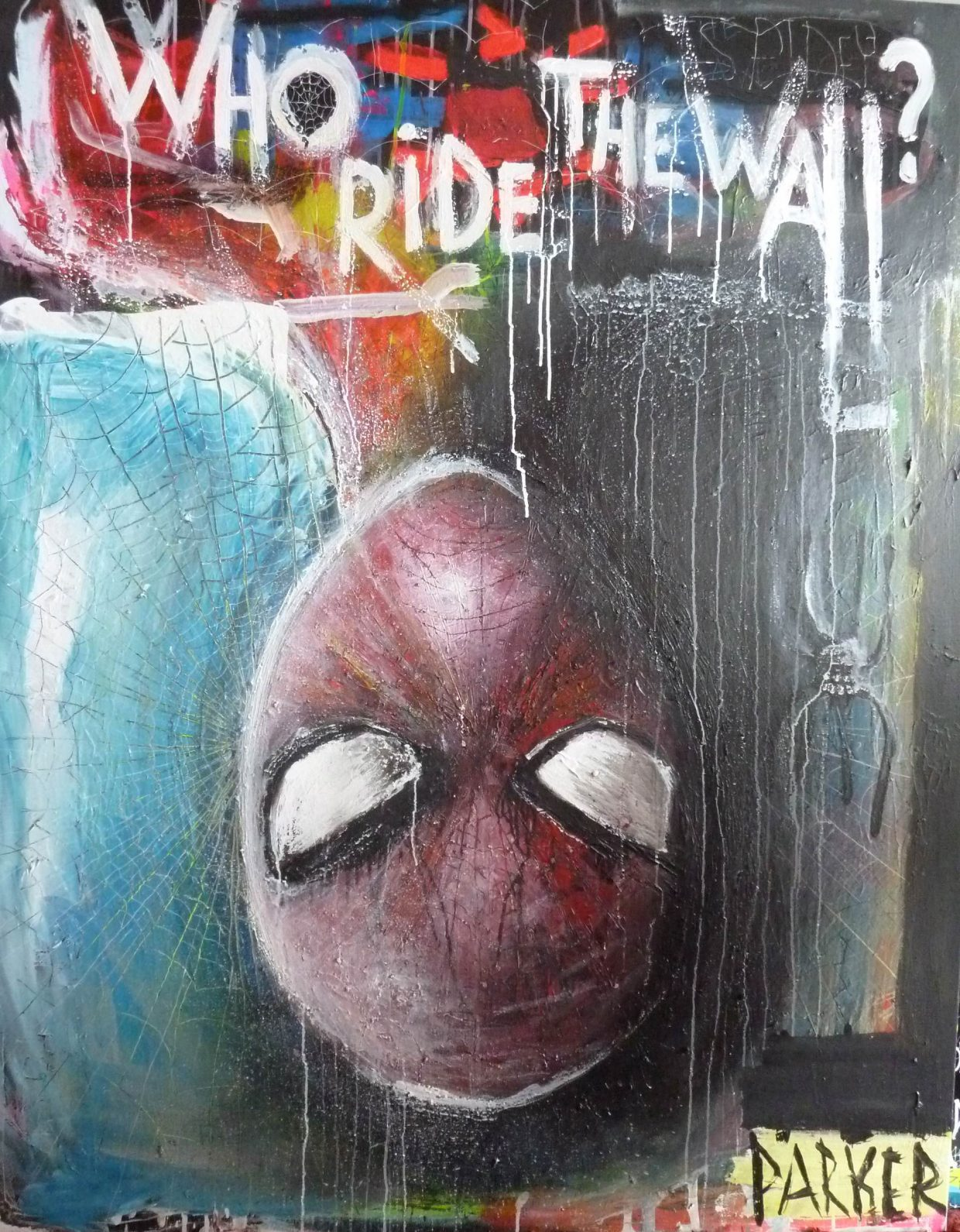Who ride the wall - 160 x 120 cm